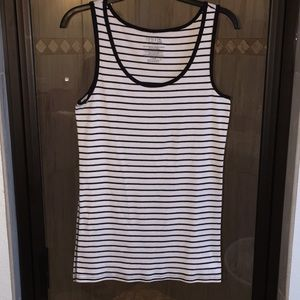 Black & White striped tank top